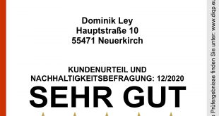 Nachhaltiges Unternehmen Dominik Ley Neuerkirch